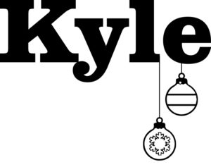 Kyle font style engraving